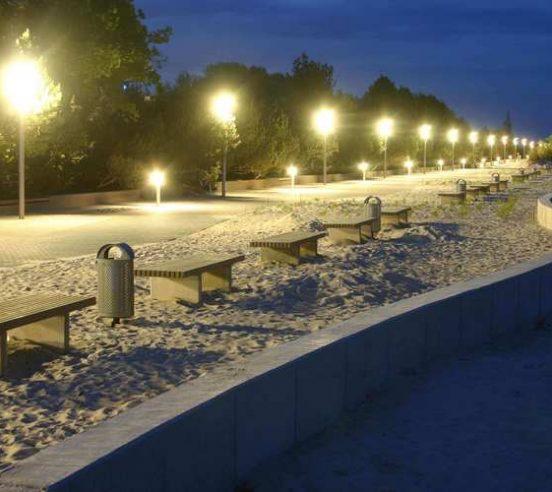 Ülemine Pärnu rannapromenaadi maastikuarhitetuur